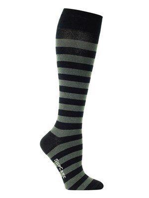 Deze mooie steunkousen zijn niet te onderscheiden van normale (kniehoge) sokken. De kousen hebben een compressie van 15-21 mmHg waardoor ze uitermate geschikt zijn voor dagelijks gebruik. Butik21.nl   €14,90