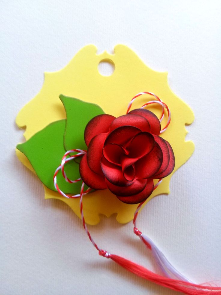 Welcoming spring: Martisoare handmade (traditional Romanian charm worn to celebrate spring)