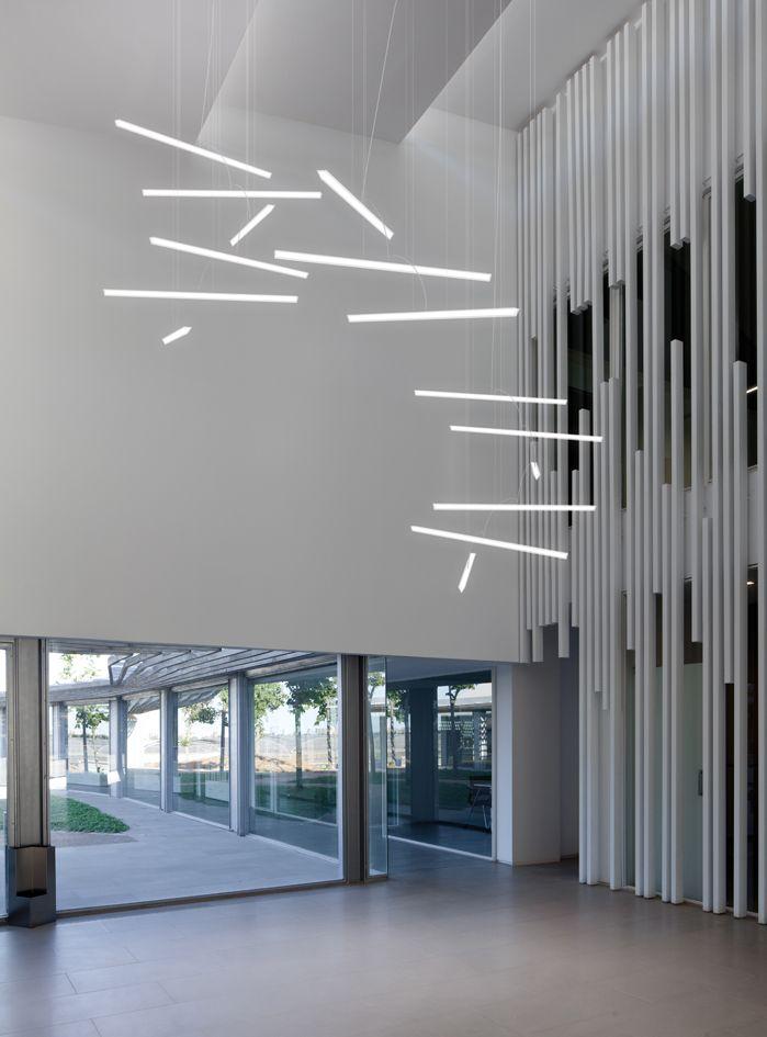 Halo Lineal pendant designed by Martín Azúa. http://www.vibia.com/en/lamps/show/id/23414/hanging_lamps_halo_lineal_2341_design_by_martin_azua.html?utm_source=pinterest&utm_medium=organic&utm_campaign=wallarts&utm_content=en&utm_term=