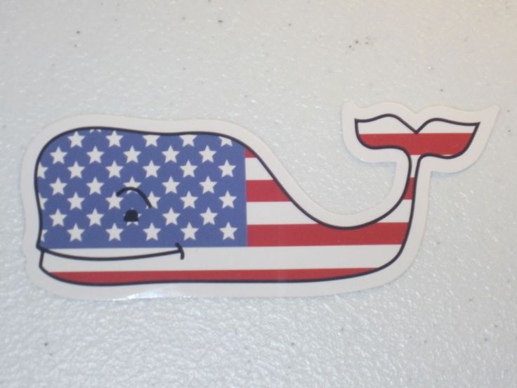 NEW Vineyard Vines Whale Decal Sticker American Flag USA *FREE SHIPPING* | Clothing, Shoes & Accessories, Unisex Clothing, Shoes & Accs, Unisex Accessories | eBay!
