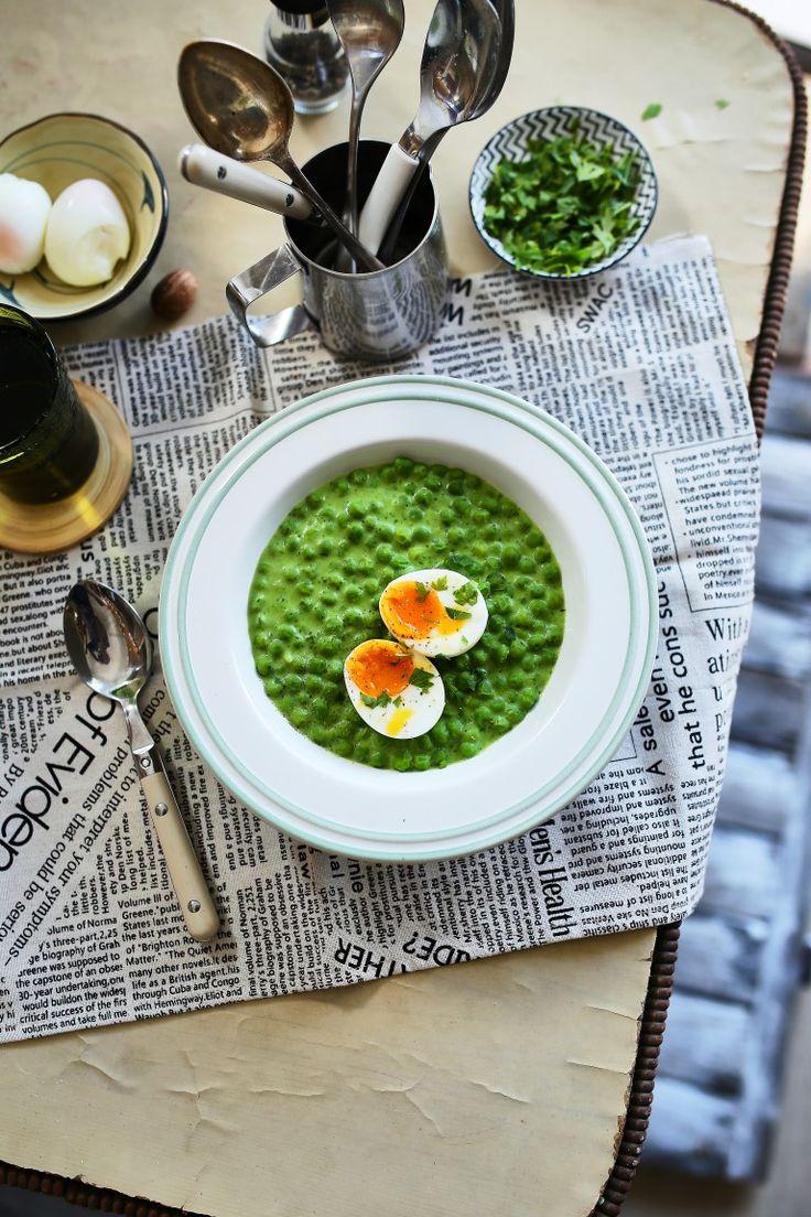 A legjobb és legzöldebb zöldborsófőzelék perfekt főtt tojással • Fördős Zé Magazin