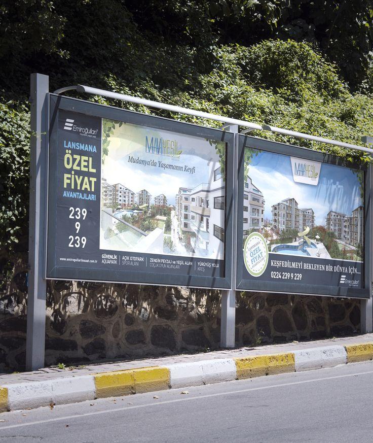 Mavi Yeşil Billboard Tasarımı