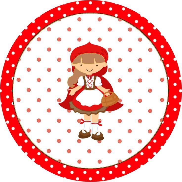 Chapeuzinho Vermelho - Kit Completo com molduras para convites, rótulos para guloseimas, lembrancinhas e imagens! - Fazendo a Nossa Festa