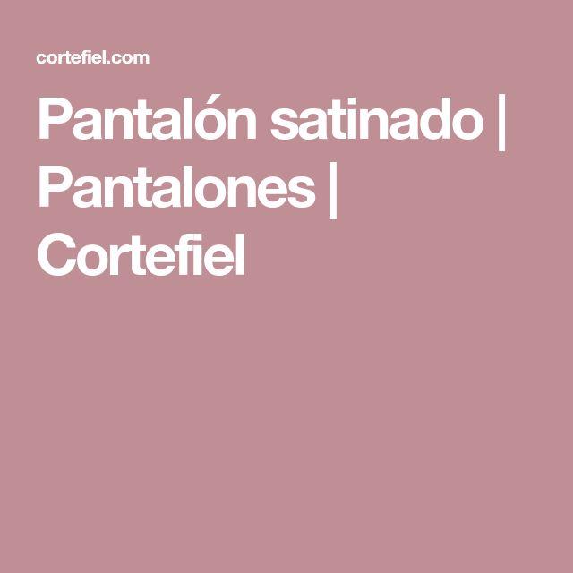 Pantalón satinado | Pantalones | Cortefiel