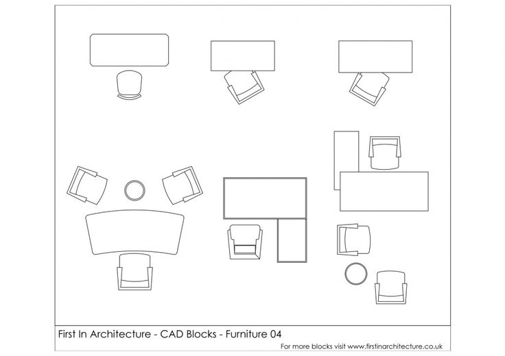 Free cad blocks from First In Architecture - Office Furniture