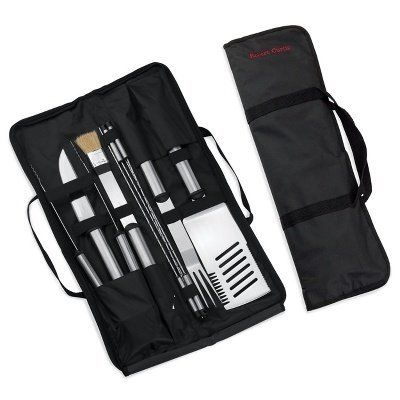 Stainless Steel Grill Set for Groomsmen from Exclusively Weddings by Exclusively Weddings. $44.95. This complete 9-piece stainless steel grilling set will be a much-appreciated groomsman gift for the serious outdoor chef. - Exclusively Weddings - 224-1101