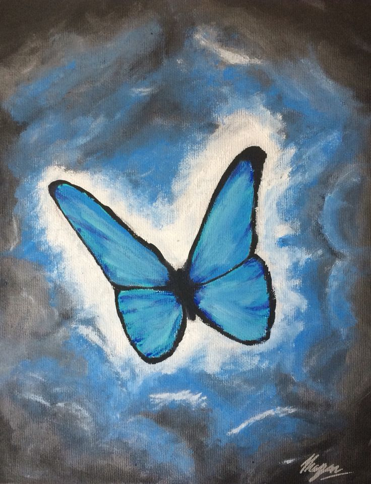 Blue butterfly painting inspired by life is strange