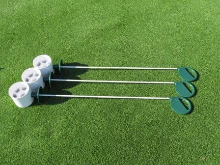 Golf Balls Ideas | Golf Practice Putting Green  Natural or Synthetic  Deluxe Accessory Kit  3 Bright White Plastic 4 Deep Regulation Cups  3 Green Executive Putting Green Pin Markers with Ball Lifter Disks >>> Want additional info? Click on the image. Note:It is Affiliate Link to Amazon.