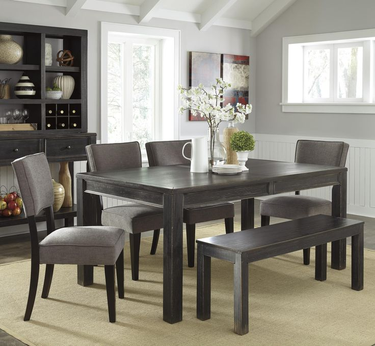 Gavelston 6 Piece Table Set With Bench Sold At Gardiners Furniture