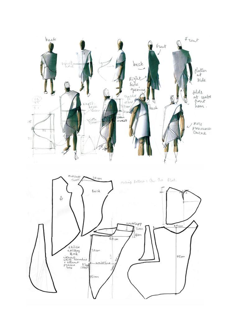 Fashion Sketchbook - fashion design dress development sketches and notes - fashion student work; fashion portfolio // Katie Bishop
