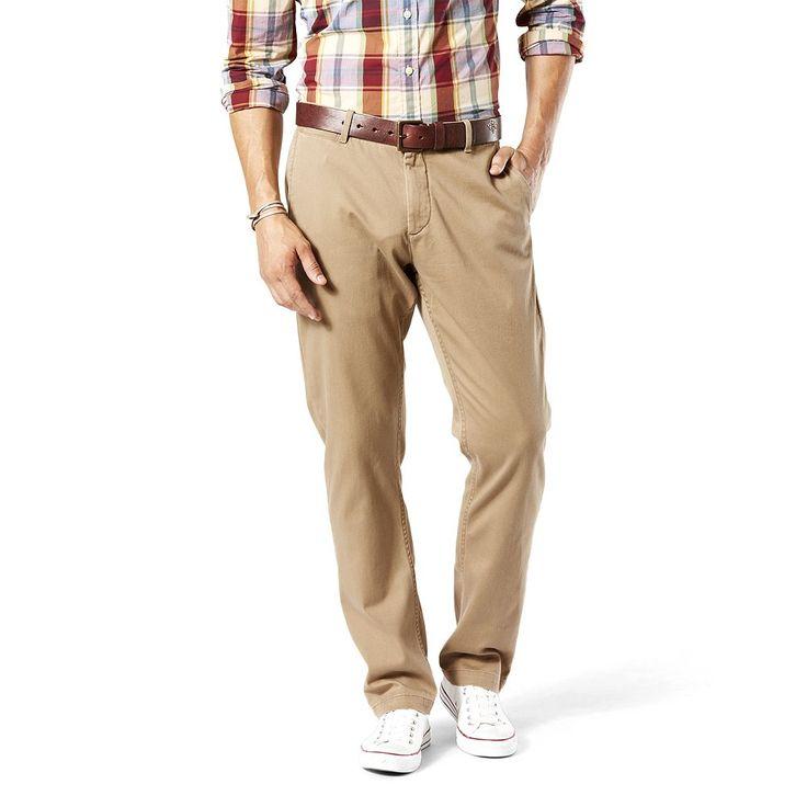 Men's Dockers Athletic-Fit Stretch Washed Khaki Pants, Size: 32X30, Lt Beige