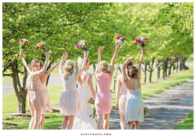 Avery Photo - beautiful bridesmaids dresses at Belcroft Estates