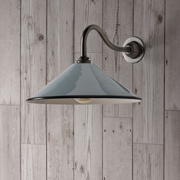 39 best wall lights images on pinterest smaller coolie hat wall light in stone with a copper interior with swan neck wall fitting in gunmetal grey aloadofball Image collections