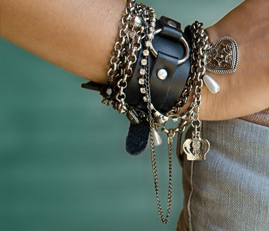 Tokyo Jane and Guess bracelets  Rock Chick style