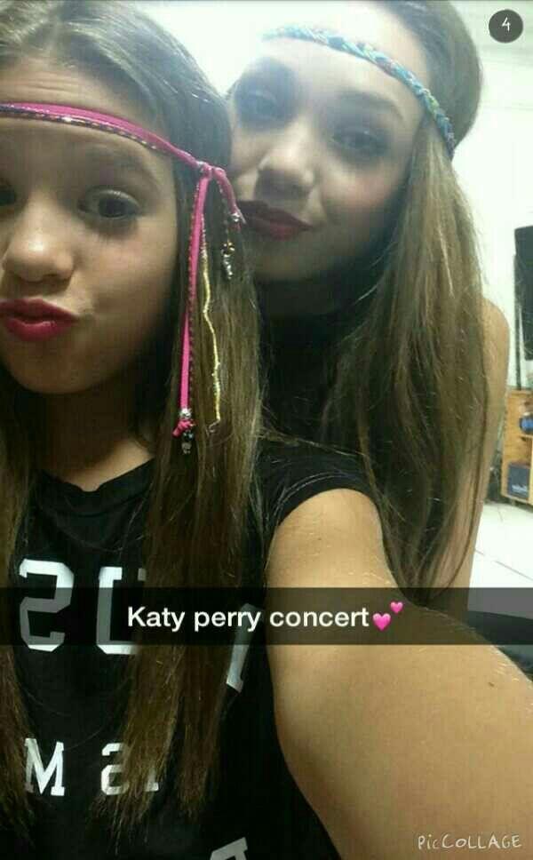 Mackenzie Ziegler  Maddie Ziegler  Mackenzie's snapchat ✈️ SnapChat  Katy Perry concert !