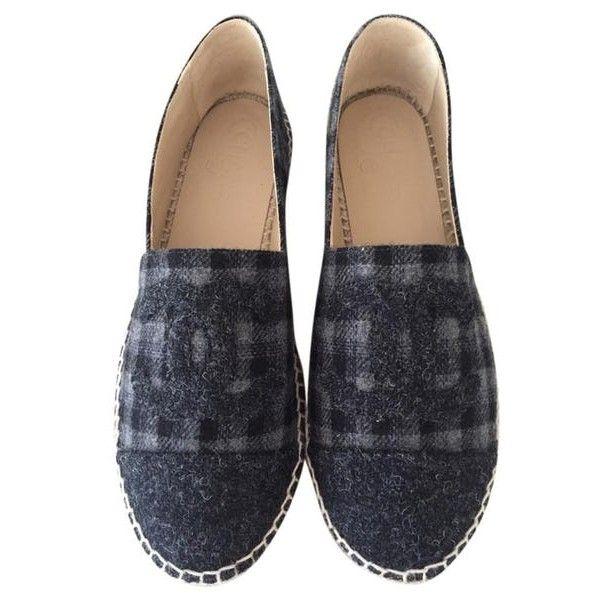 Dark Grey Espadrilles Us7.5 Eu38 Flats (1 330 BGN) ❤ liked on Polyvore featuring shoes, flats, dark grey flats, dark gray shoes, dark gray flats, flat heel shoes and espadrille flats