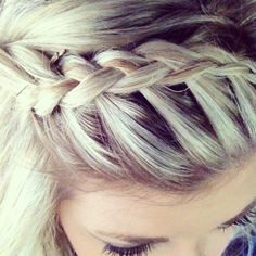 Braided bangs. I need to learn how to do this.