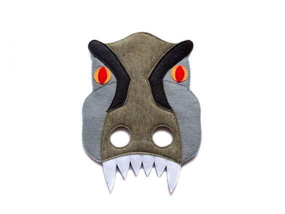 T-REX Felt Mask Tyrannosaurus Rex costume Indominus by pokiplays
