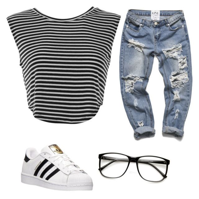 """""""Untitled #1"""" by camillaguardini ❤ liked on Polyvore featuring adidas, women's clothing, women, female, woman, misses and juniors"""