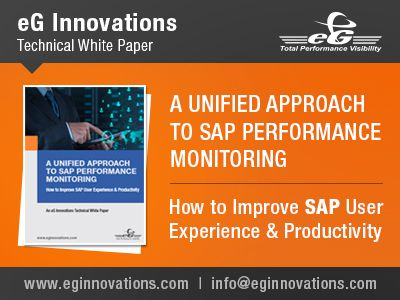 eG Enterprise helps to improve SAP User Experience & Productivity. eG Enterprise is the Performance Monitoring Software it will give complete 365 degree end-to-end monitoring solutions.  http://www.eginnovations.com/web/egsapmonitor.htm