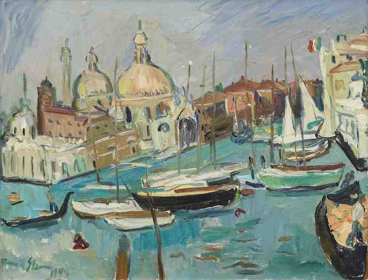 lot 60 Irma Stern - The Entrance to the Grand Canal Venice