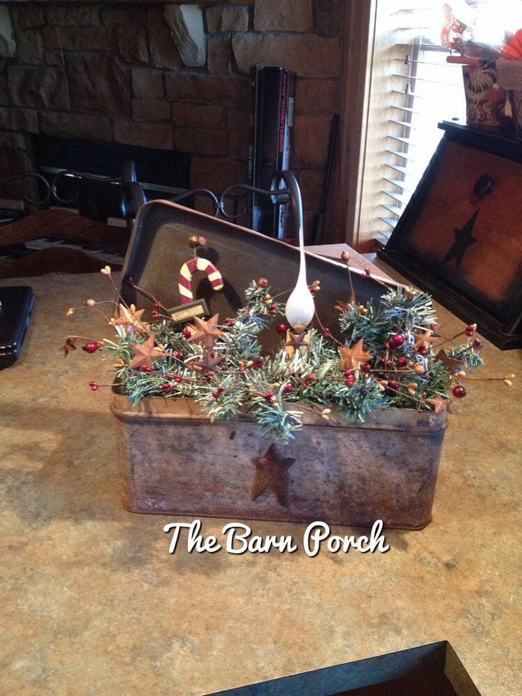 592 Best Christmas Farmhouse Prim Images On Pinterest