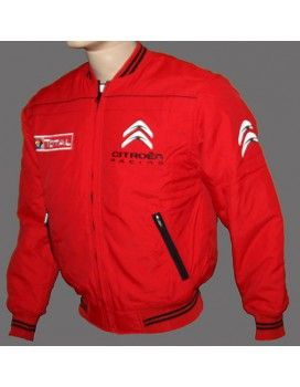 Citroen Red High Quality Jacket With embroidered logos http://autofanstore.com