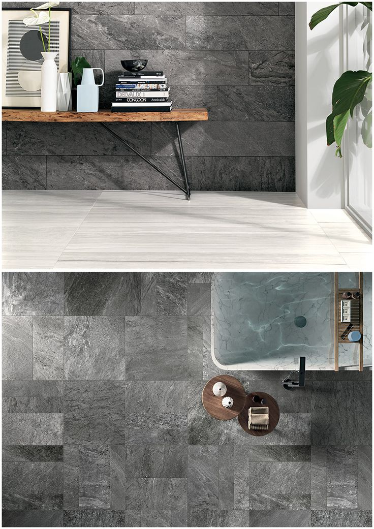 A new range that blends 6 stone effects to create a natural look. Available in 450X900, 600X600 & 300X600(Anti-slip only). #tiles #natural #stone #design