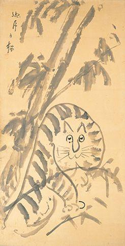 永青文庫美術館 龍虎図 19世紀 「仙厓ワールド -来て見て笑って!仙厓さんのゆるカワ絵画-」
