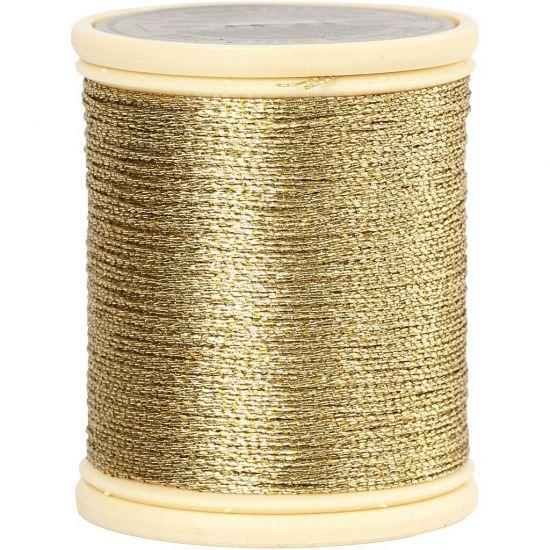 Kerstballen draad goud  Goud metallic draad 40 meter. Fijn draad met een metallic afwerking. Goud draad met een dikte van 036 mm en een lengte van 40 meter.  EUR 8.75  Meer informatie