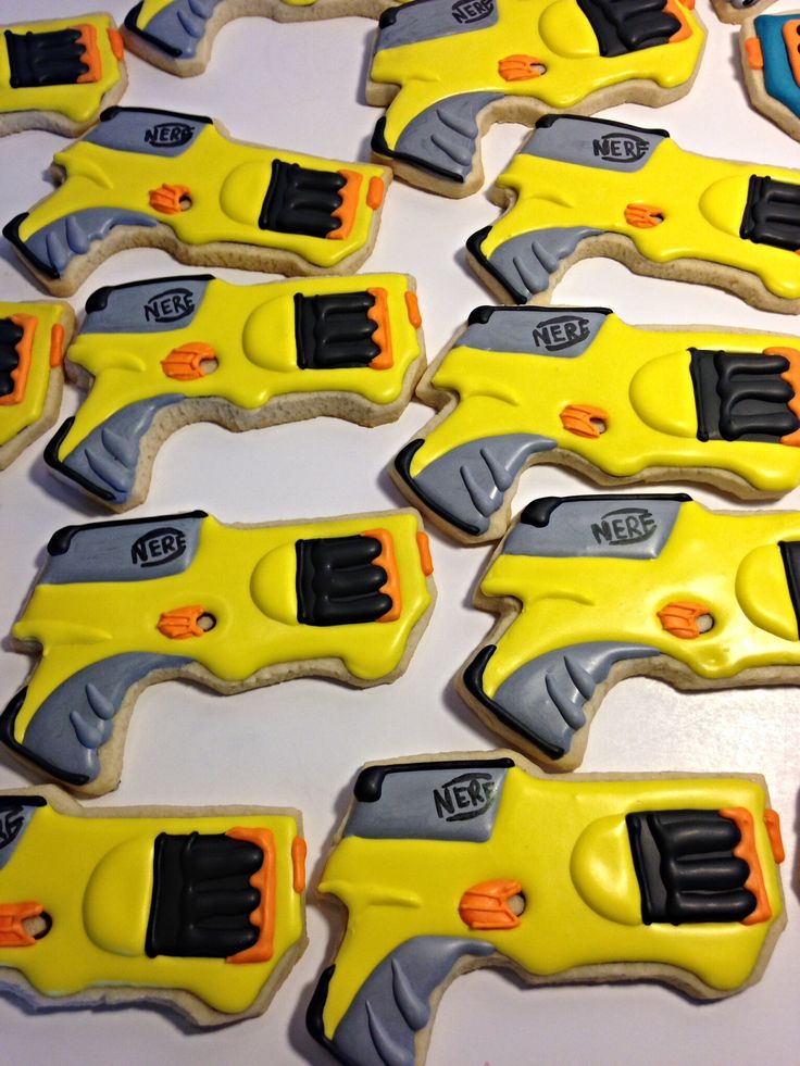 Nerf Gun Cookies My Work Www Facebook Com Royal Icing1
