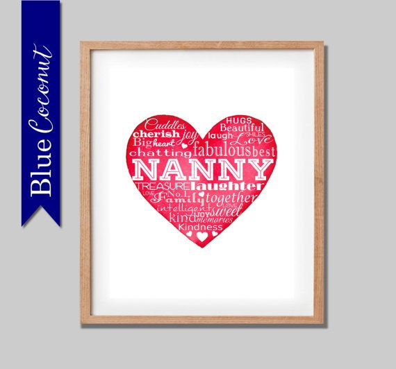 13 best kids images on pinterest gifts for nan nanny gifts and holiday christmas gift nannana nanna and nanny by thebluecoconut negle Images