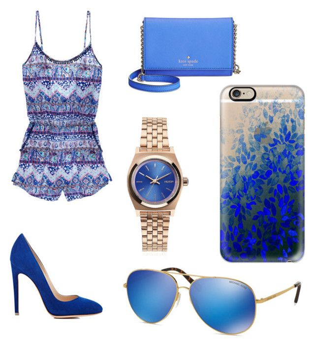 """""""Untitled #16"""" by linda-lopcianska on Polyvore featuring Victoria's Secret, Gianvito Rossi, Kate Spade, Nixon, Michael Kors and Casetify"""