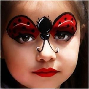 ladybug birthday party face paint and makeup ideas - Halloween Facepaint