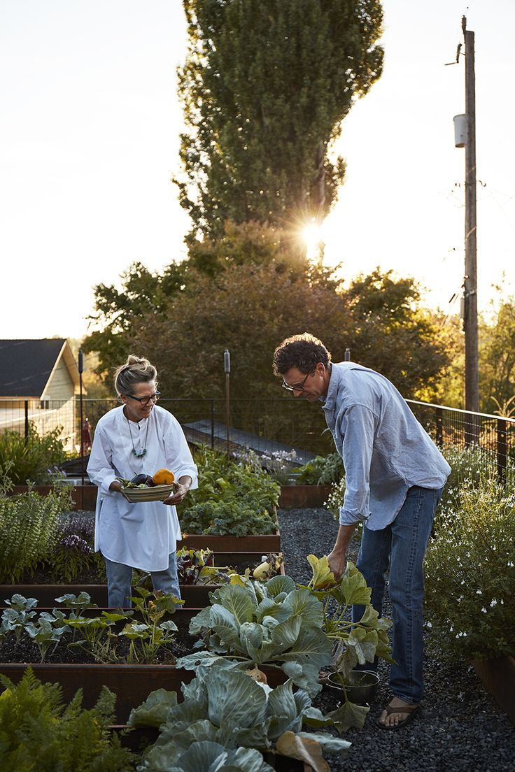 Despite being located in the middle of the city, the couple's property is flanked by two private gardens and is in close proximity to the Washington Park Arboretum. Ian and Deb often cook using fresh vegetables from the garden, which is equipped with a PVC irrigation system.