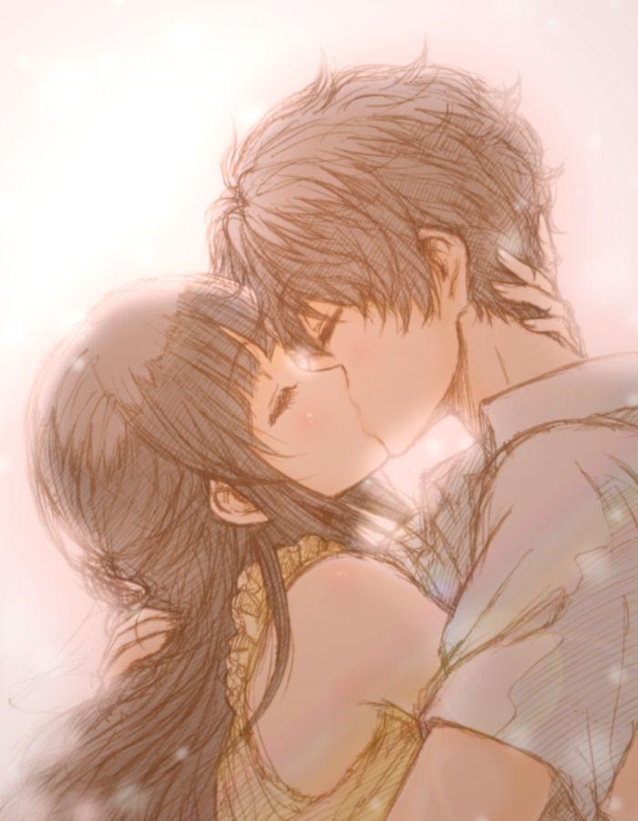 Tags: Anime, Colorz, Hyouka, Oreki Houtarou, Chitanda Eru, Kiss On The Lips