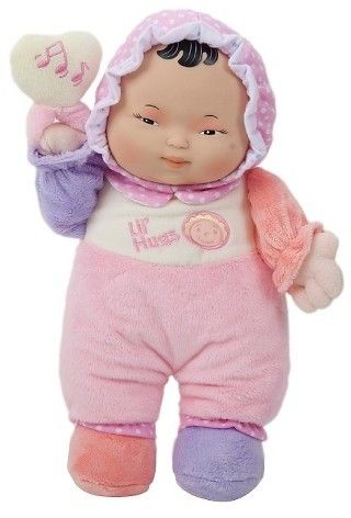 JC Toys Lil' Hugs Asian Soft Body Your First Baby Doll Designed by Berenguer - Pink