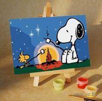 Картина по номерам `Ночной пикник` (100x150 мм; арт. МA006)