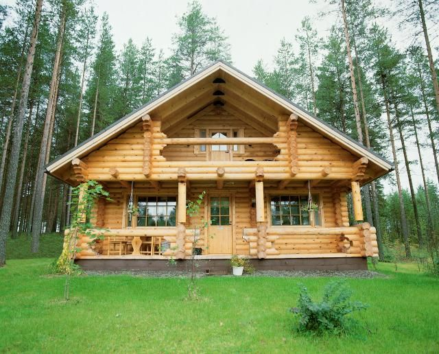 96 best images about future cabin on pinterest modular for Log home decks