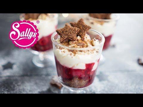 Weihnachts-Dessert Schwarzwälder Kirsch Art mit roter Grütze und Lebkuchenteig - YouTube