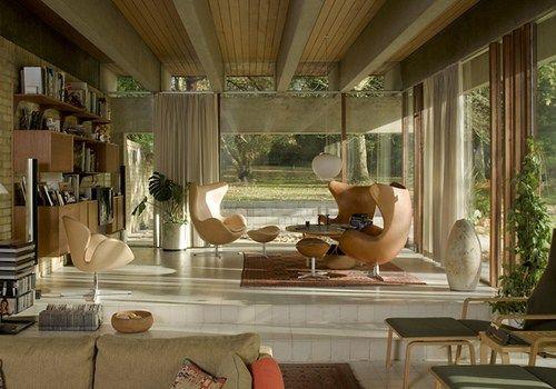 Jørn Utzon, Danish architect - Herts UK. Images via The modern House