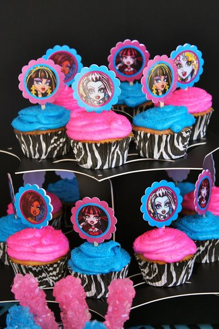 Monster High Birthday Party Ideas / Photo 23 of 32 | Catch My Party. I love the zebra print as part of this theme.