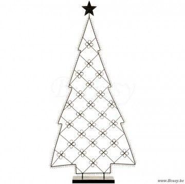 "J-Line Fotohouder kerstboom donkerbruin metaal h110 <span style=""font-size: 0.01pt;"">Jline-by-Jolipa-38153-fotobord-fotopaneel-cadre-photo-fotorahmen-fotorahmen-haus-rural-campagne-cadre-photo-</span>"
