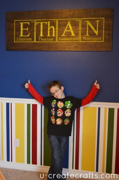 DIY Personalized Science Pallet Project
