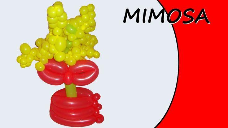 Video tutorial su come realizzare una mimosa con i palloncini modellabili. #palloncini #PallonciniModellabili #balloon #BalloonTwisting #globoflexia #globos