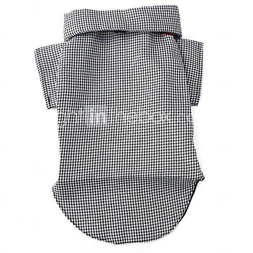 Cães Camiseta Smoking Preto Roupas para Cães Inverno Primavera/Outono Xadrez Casamento Ano Novo de 2016 por $8.99