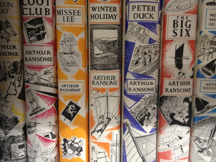 Love these covers.   Arthur Ransome's Swallows and Amazons collection