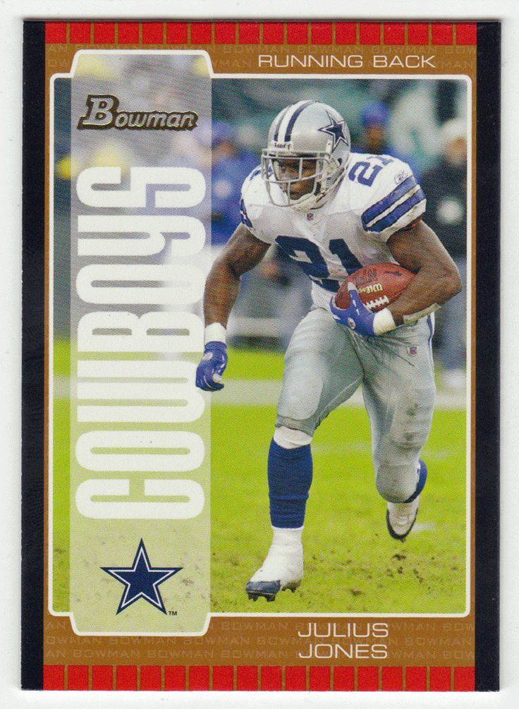 Julius Jones # 29 - 2005 Bowman Football Bronze