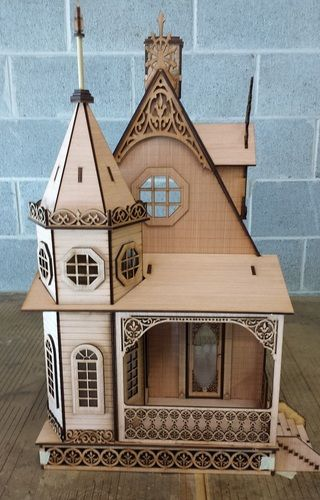 Jasmine Gothic Victorian Cottage Dollhouse 1:12 scale - the witches shop