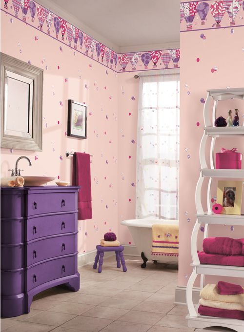 Papel tapiz infantil para ni as cuarto naty sobres de for Decoracion para bebe nina